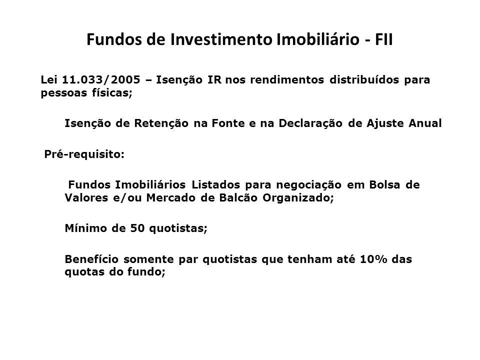 Fundos de Investimento Imobiliário - FII