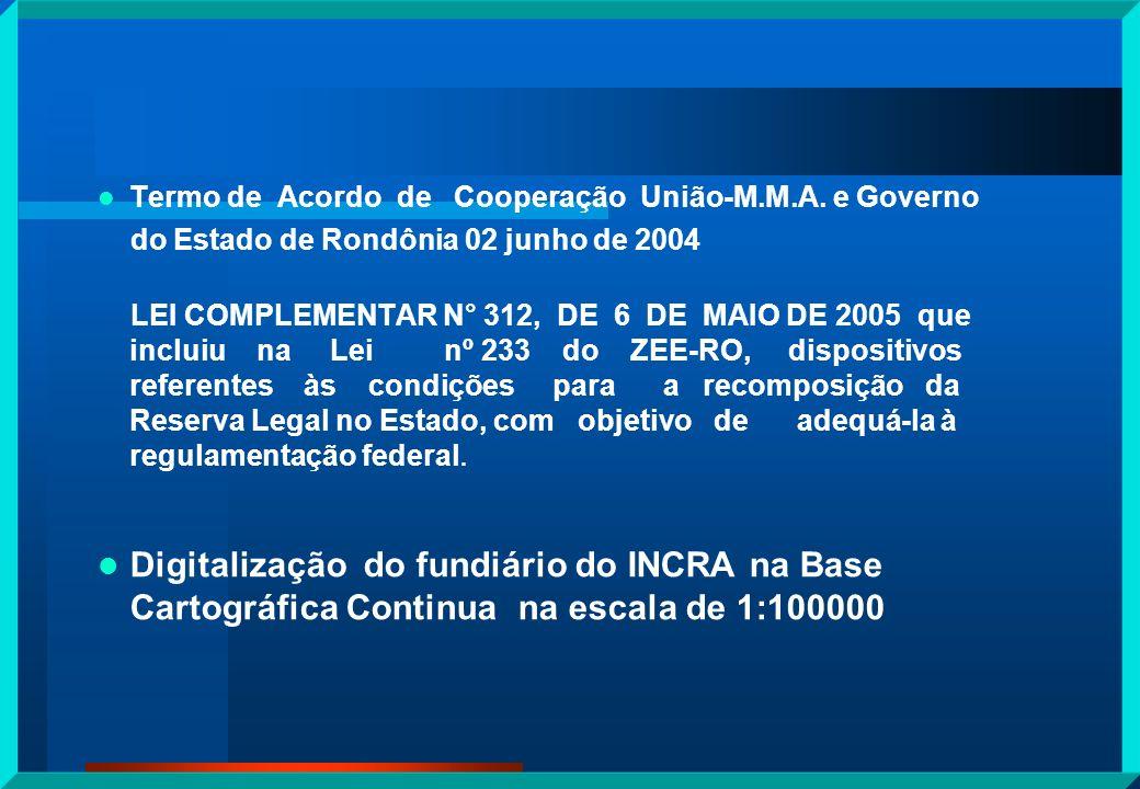 Termo de Acordo de Cooperação União-M.M.A. e Governo