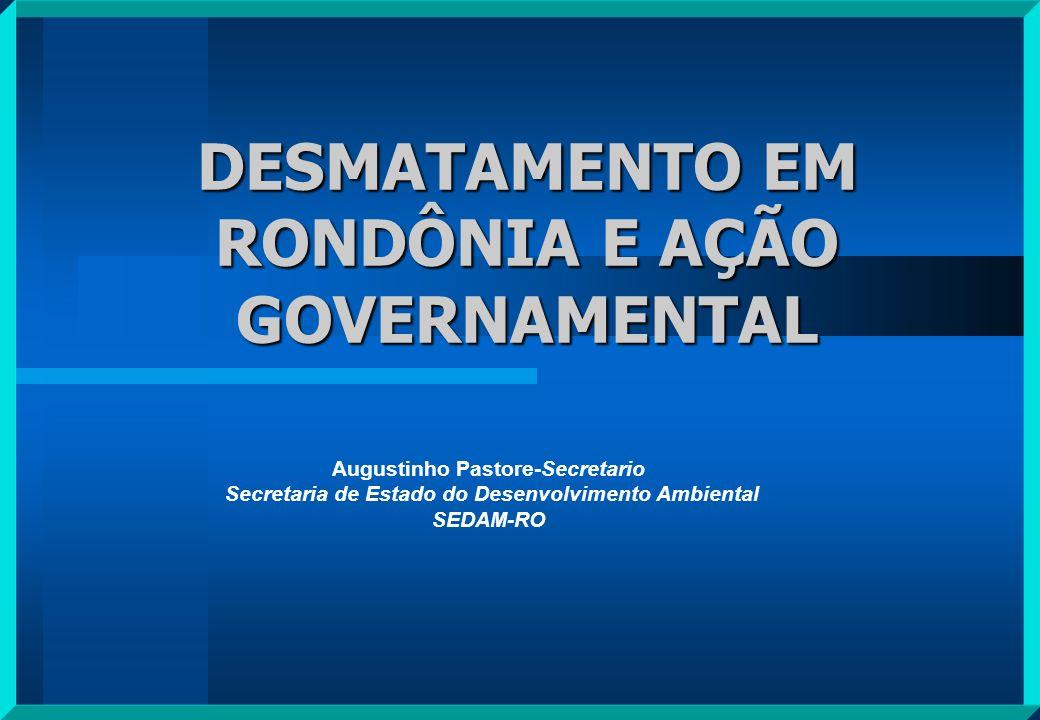 DESMATAMENTO EM RONDÔNIA E AÇÃO GOVERNAMENTAL