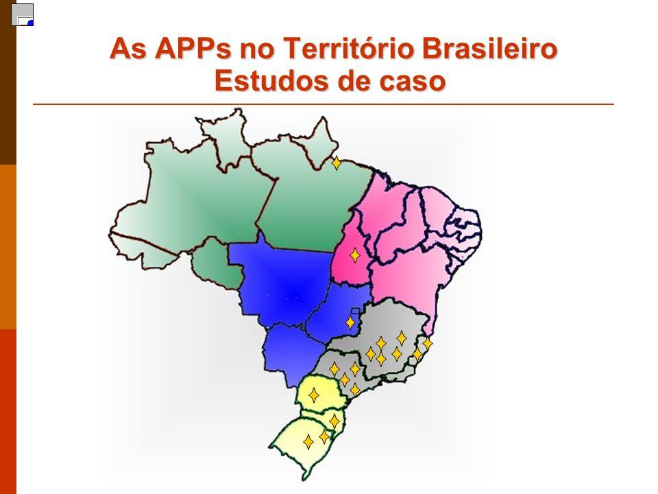 As APPs no Território Brasileiro Estudos de caso