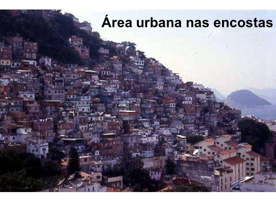 Área urbana nas encostas