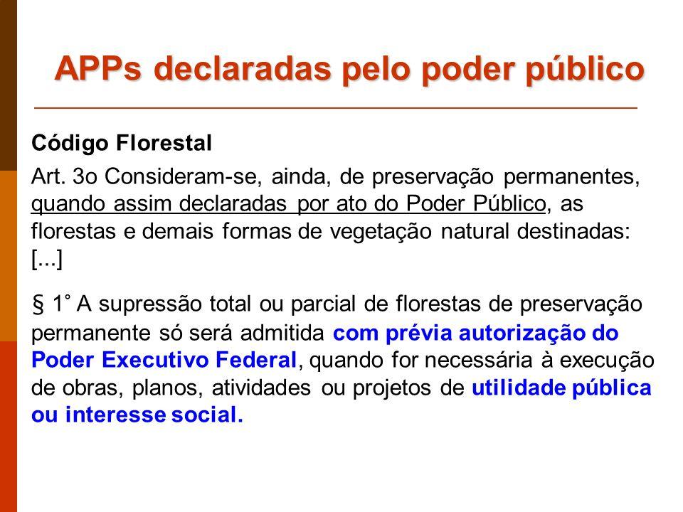 APPs declaradas pelo poder público