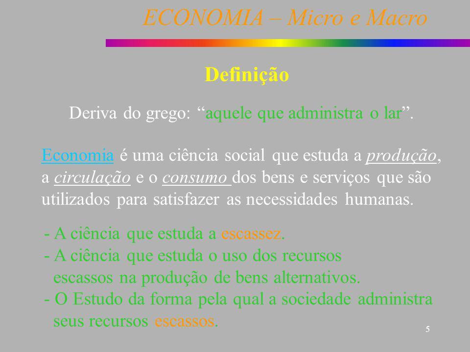 Definição Deriva do grego: aquele que administra o lar .