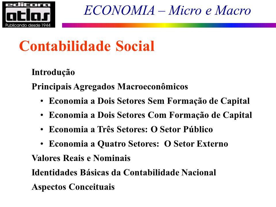Contabilidade Social Introdução Principais Agregados Macroeconômicos