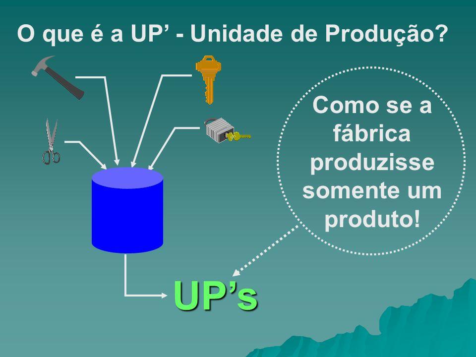 Como se a fábrica produzisse somente um produto!