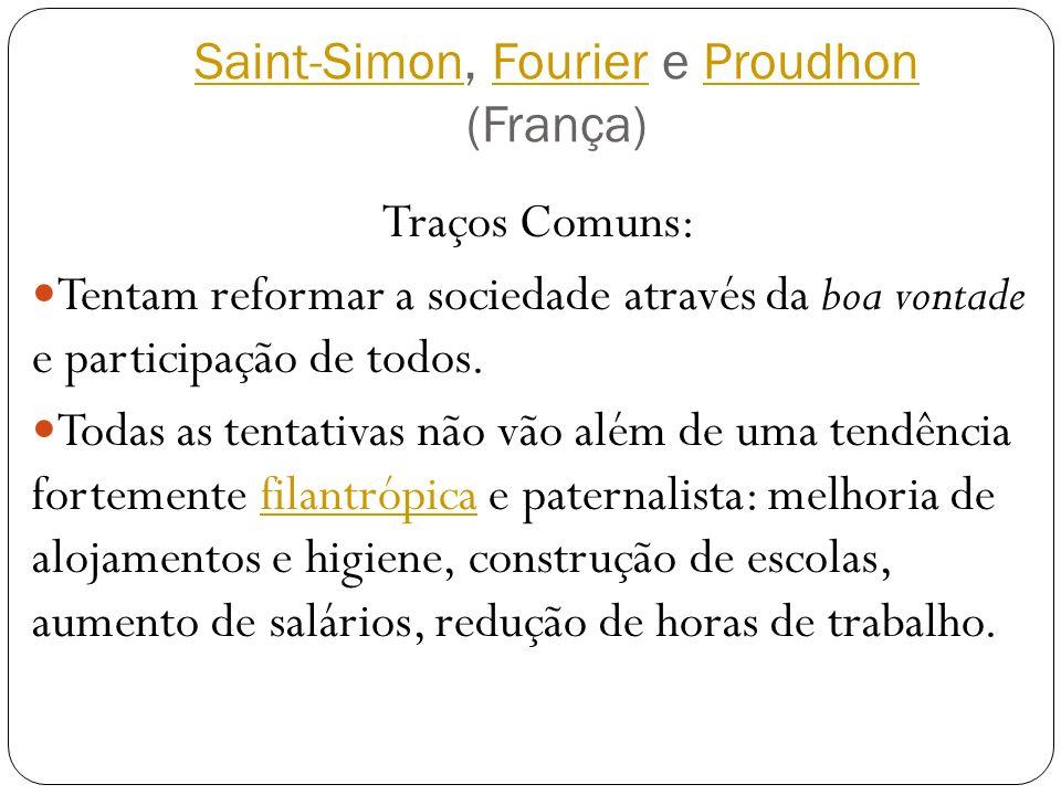 Saint-Simon, Fourier e Proudhon (França)