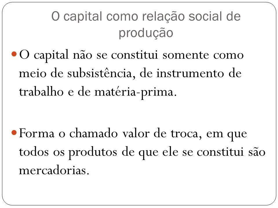 O capital como relação social de produção