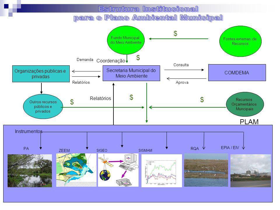 Estrutura Institucional para o Plano Ambiental Municipal