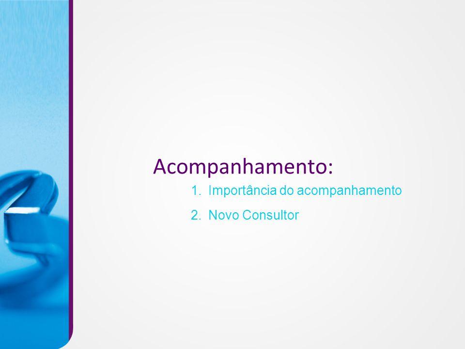 Acompanhamento: Importância do acompanhamento 2. Novo Consultor