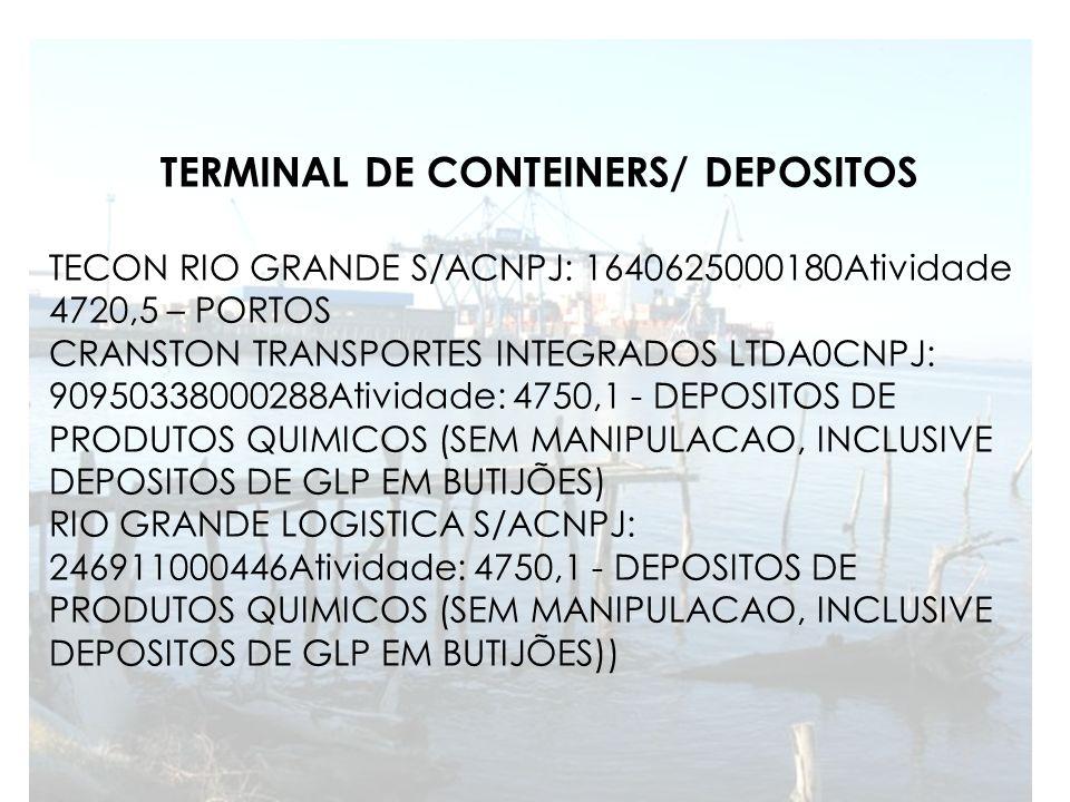 TERMINAL DE CONTEINERS/ DEPOSITOS