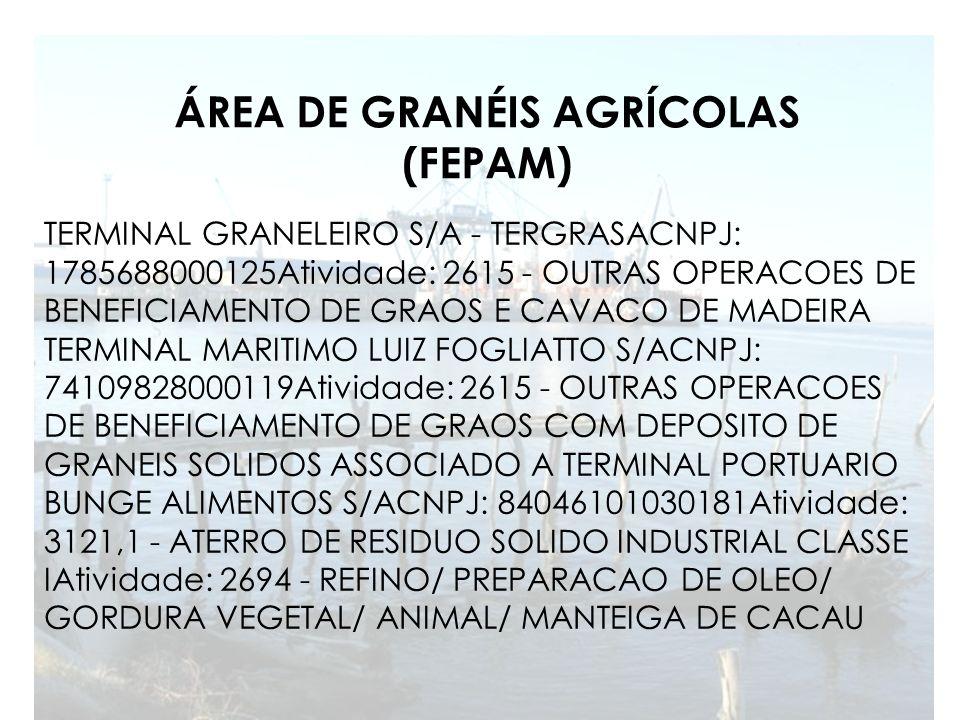 ÁREA DE GRANÉIS AGRÍCOLAS (FEPAM)