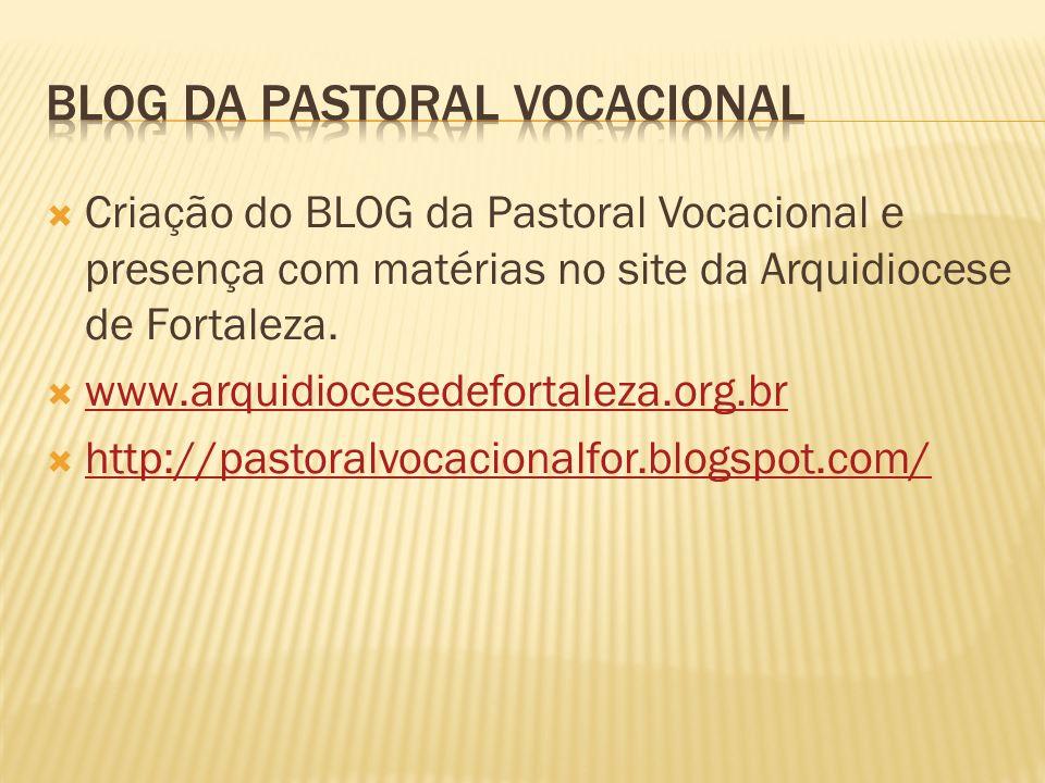 BLOG DA PASTORAL VOCACIONAL