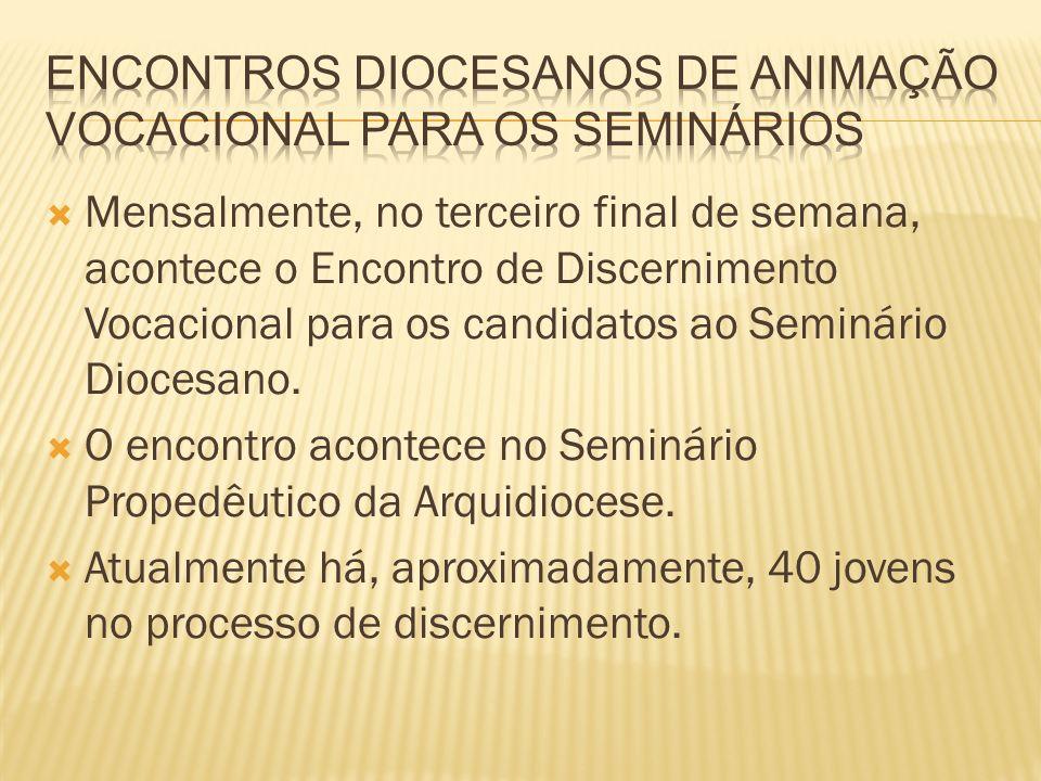 Encontros Diocesanos de Animação Vocacional para os Seminários