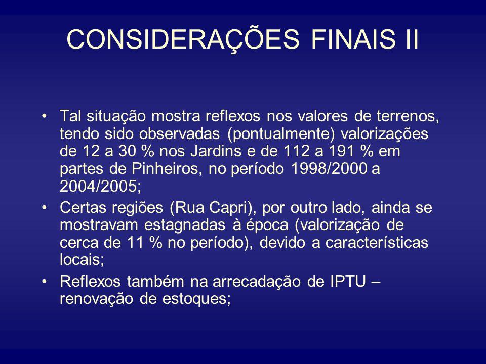 CONSIDERAÇÕES FINAIS II