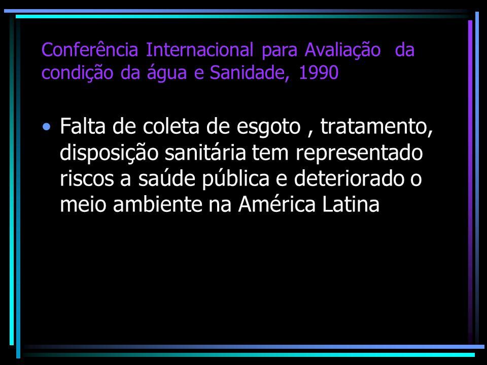 Conferência Internacional para Avaliação da condição da água e Sanidade, 1990
