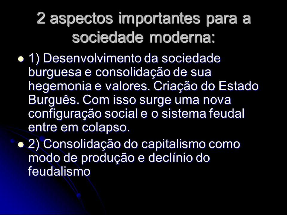 2 aspectos importantes para a sociedade moderna: