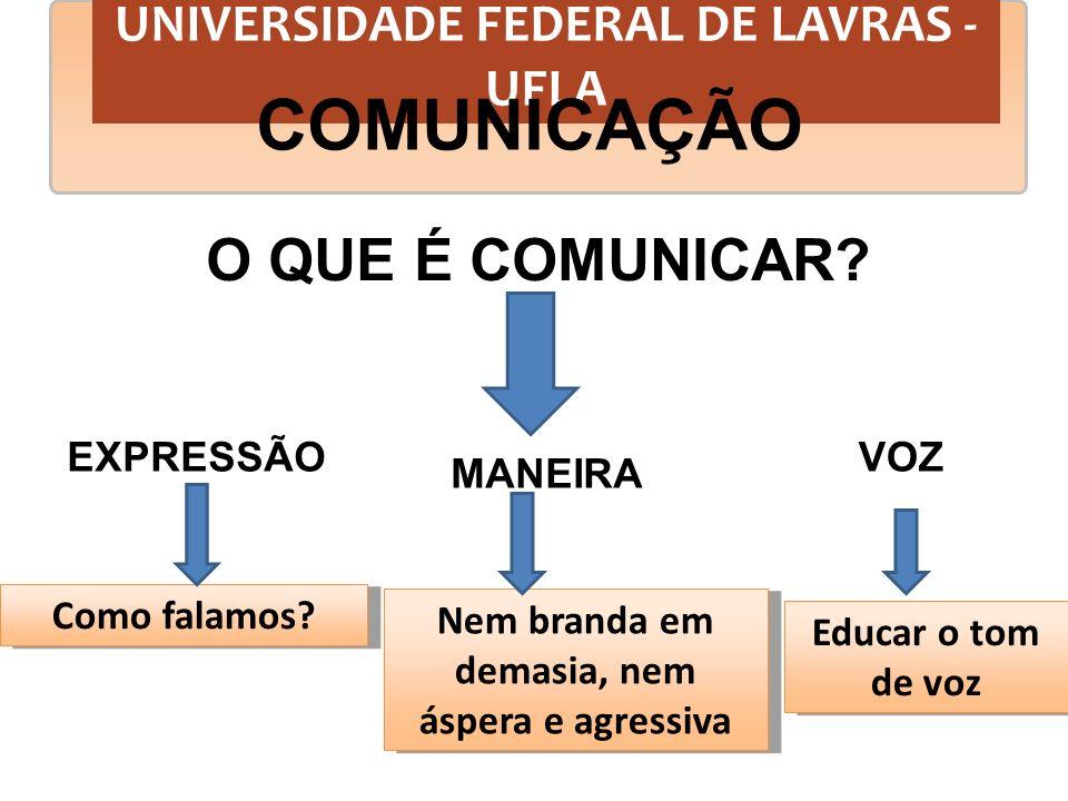 COMUNICAÇÃO O QUE É COMUNICAR UNIVERSIDADE FEDERAL DE LAVRAS - UFLA