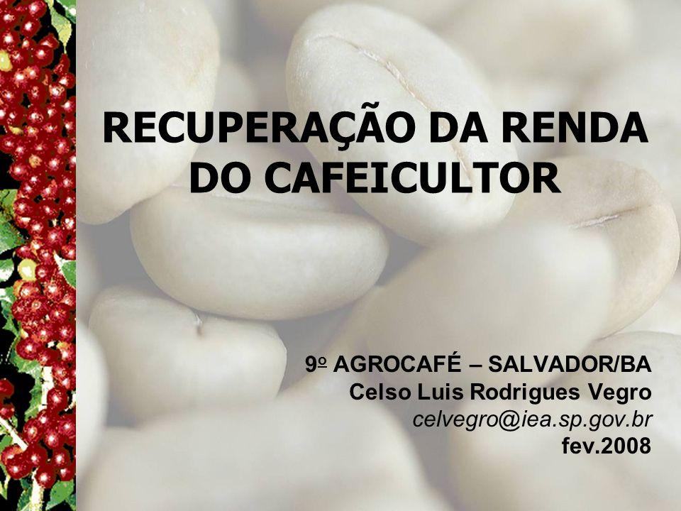 RECUPERAÇÃO DA RENDA DO CAFEICULTOR