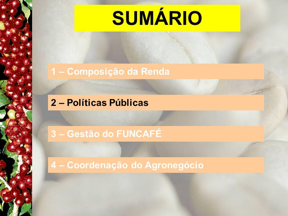 SUMÁRIO 1 – Composição da Renda 2 – Políticas Públicas