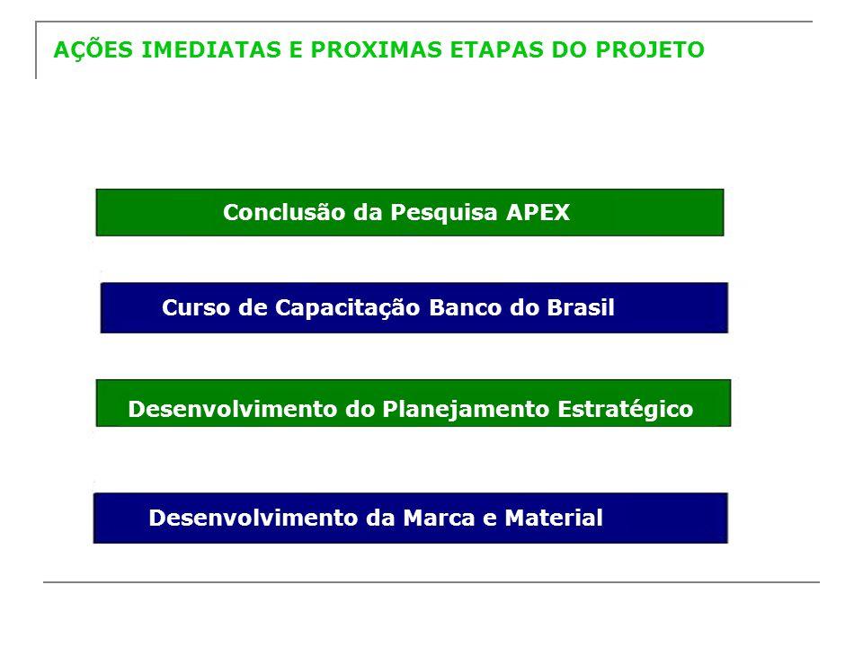 AÇÕES IMEDIATAS E PROXIMAS ETAPAS DO PROJETO