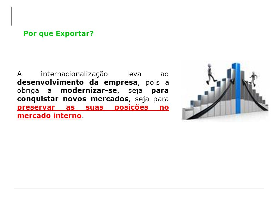 Por que Exportar