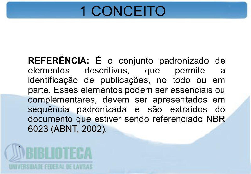 1 CONCEITO