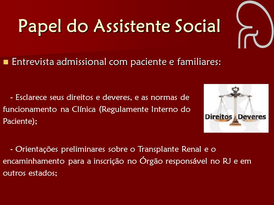 Papel do Assistente Social