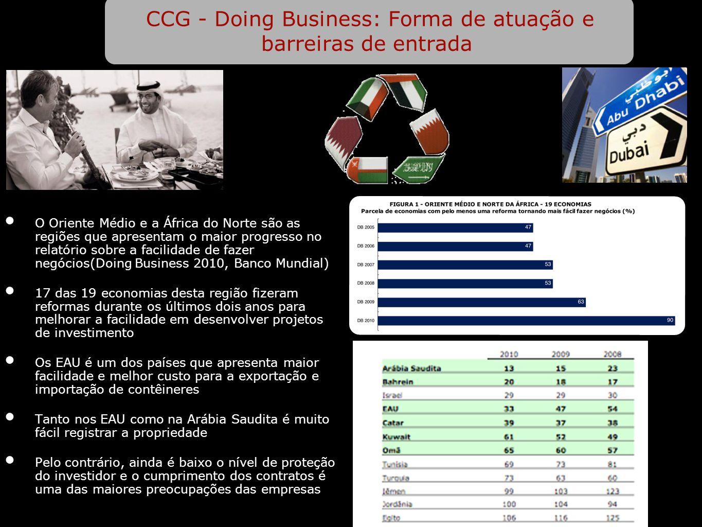 CCG - Doing Business: Forma de atuação e barreiras de entrada
