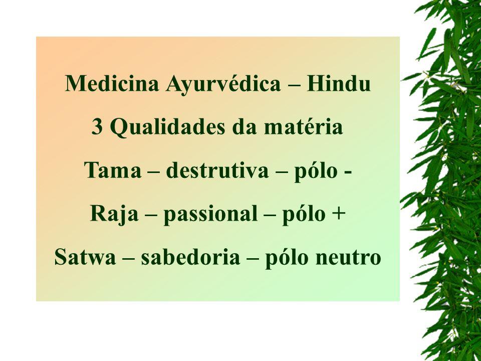 Medicina Ayurvédica – Hindu 3 Qualidades da matéria
