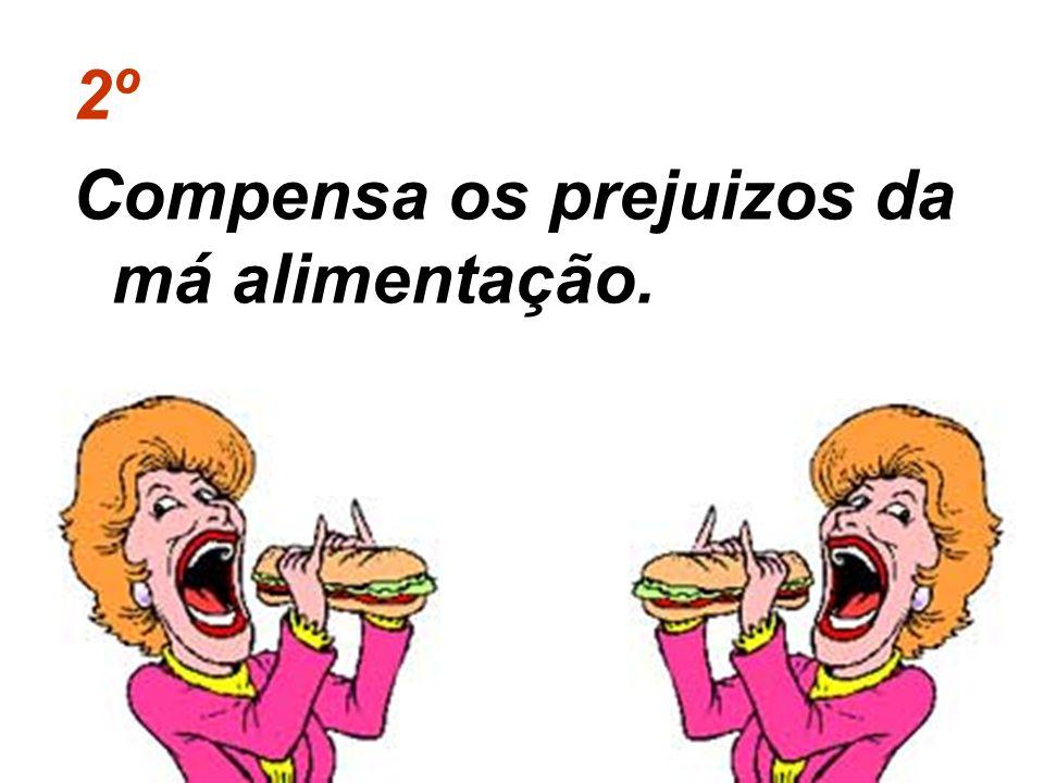 2º Compensa os prejuizos da má alimentação.