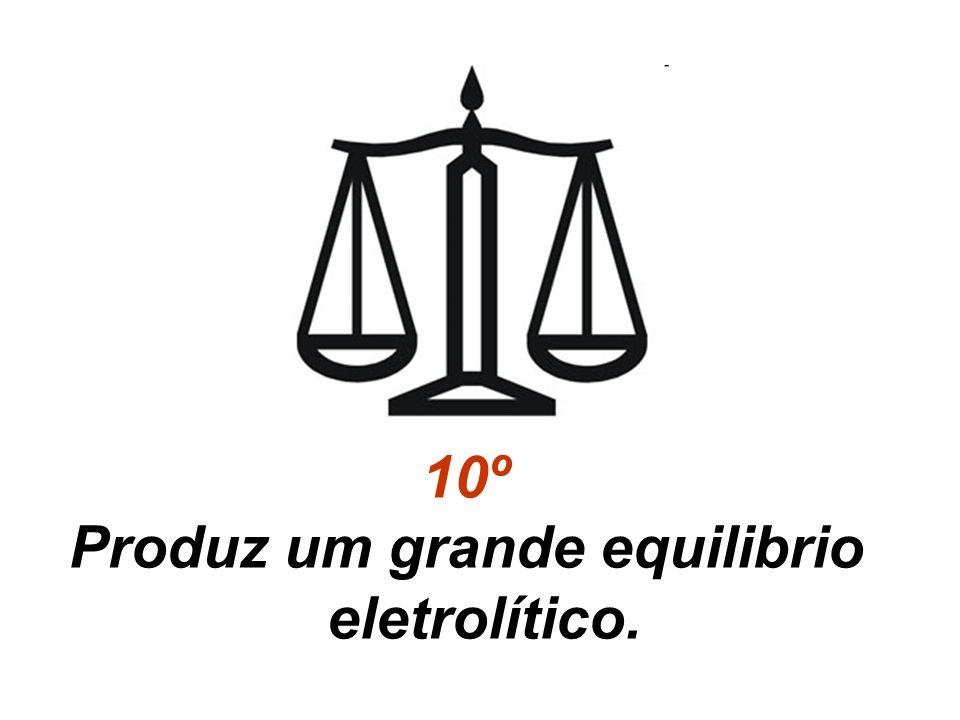 Produz um grande equilibrio eletrolítico.