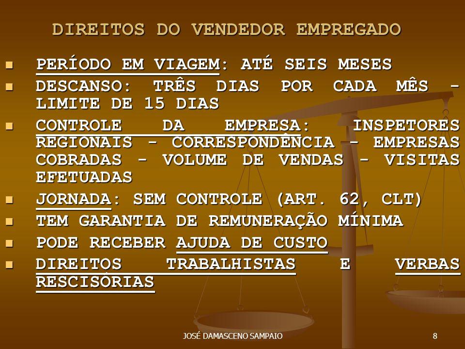 DIREITOS DO VENDEDOR EMPREGADO