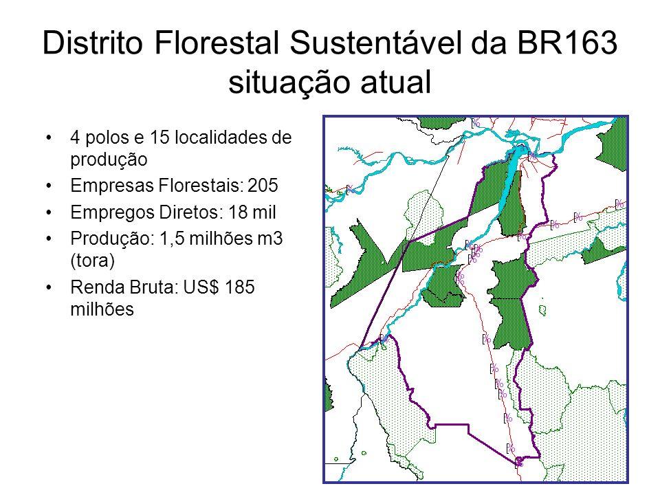 Distrito Florestal Sustentável da BR163 situação atual