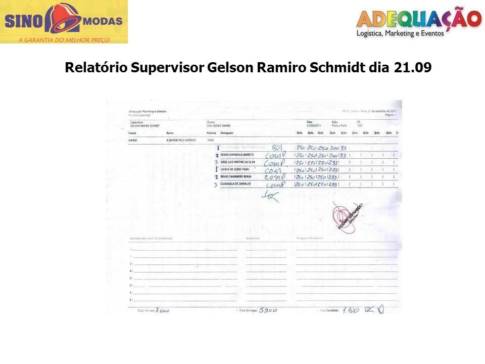 Relatório Supervisor Gelson Ramiro Schmidt dia 21.09