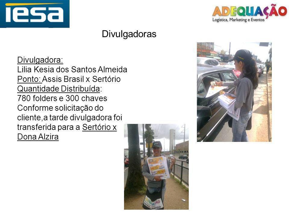 Divulgadoras Divulgadora: Lilia Kesia dos Santos Almeida