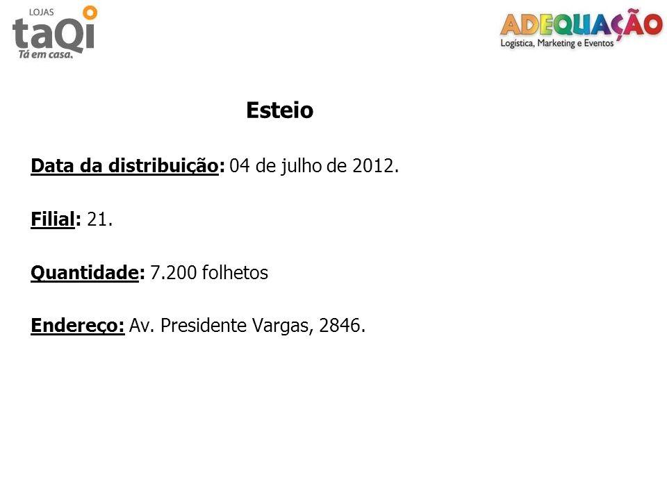 Data da distribuição: 04 de julho de 2012. Filial: 21.