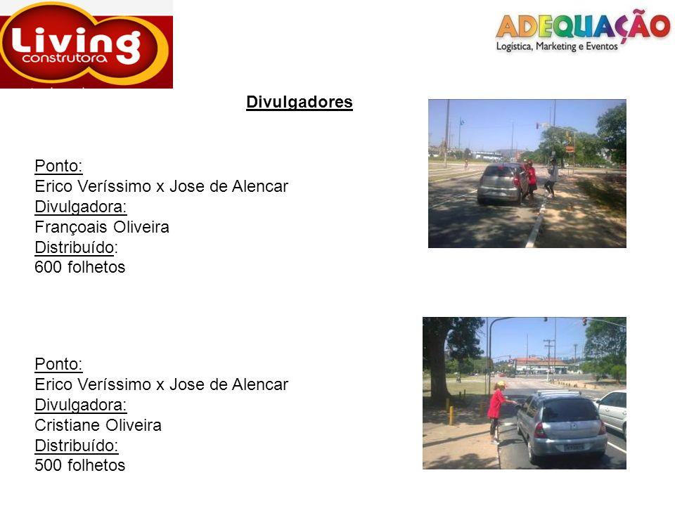Divulgadores Ponto: Erico Veríssimo x Jose de Alencar. Divulgadora: Françoais Oliveira. Distribuído: