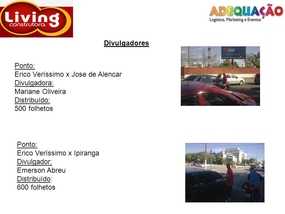 Divulgadores Ponto: Erico Veríssimo x Jose de Alencar. Divulgadora: Mariane Oliveira. Distribuído: