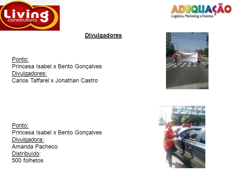 Divulgadores Ponto: Princesa Isabel x Bento Gonçalves. Divulgadores: Carlos Taffarel x Jonathan Castro.
