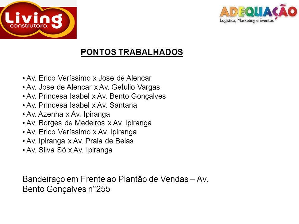 PONTOS TRABALHADOS Av. Erico Veríssimo x Jose de Alencar. Av. Jose de Alencar x Av. Getulio Vargas.