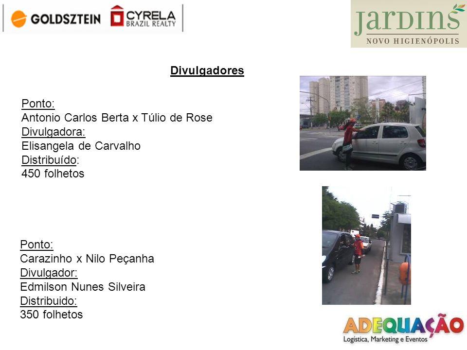 Divulgadores Ponto: Antonio Carlos Berta x Túlio de Rose. Divulgadora: Elisangela de Carvalho. Distribuído: