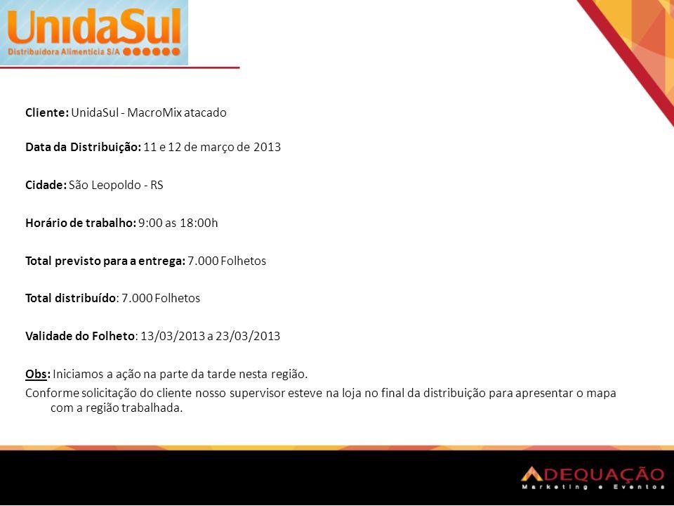 Cliente: UnidaSul - MacroMix atacado