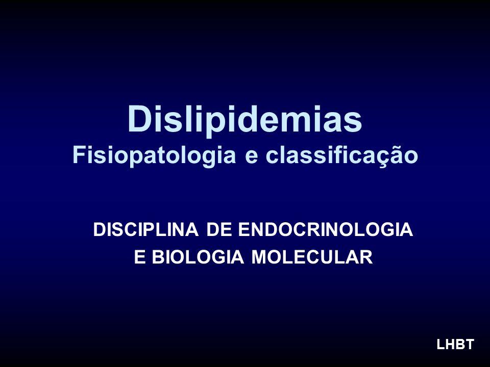 Dislipidemias Fisiopatologia e classificação