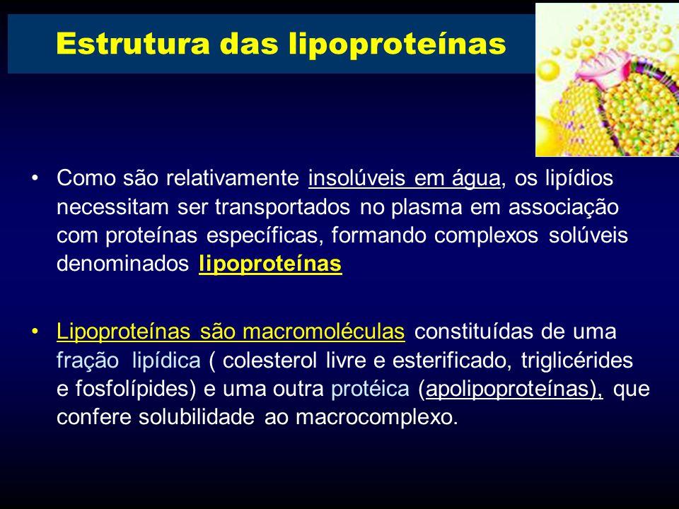 Estrutura das lipoproteínas