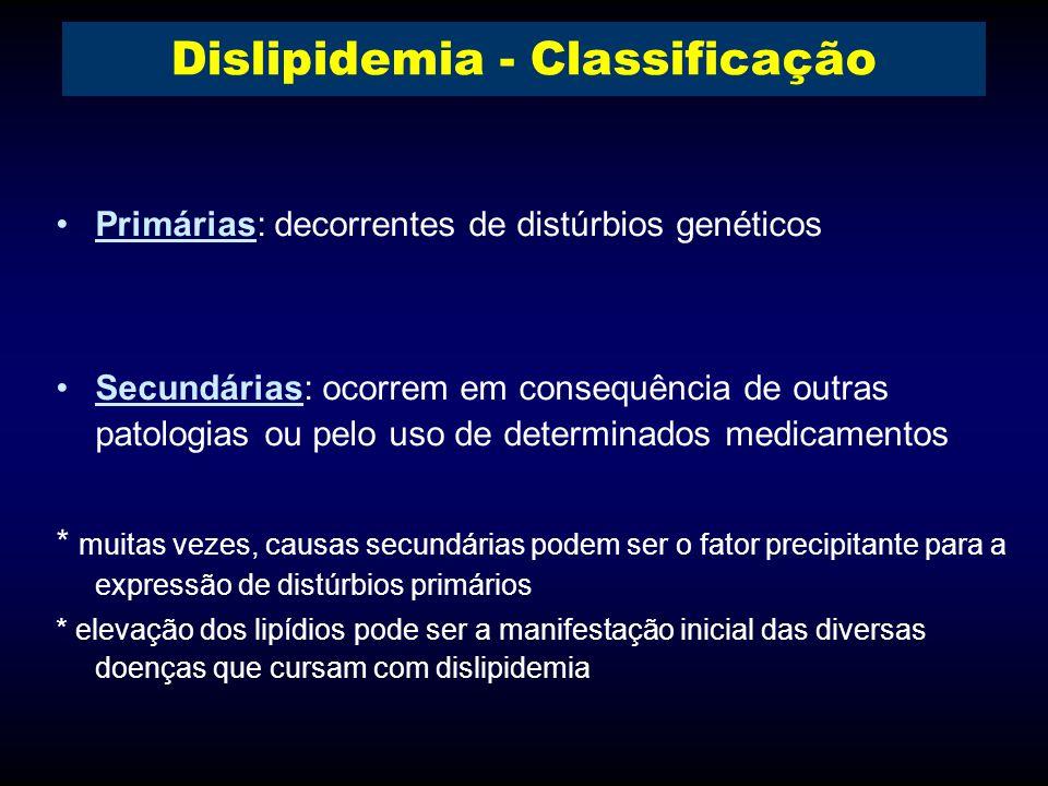 Dislipidemia - Classificação