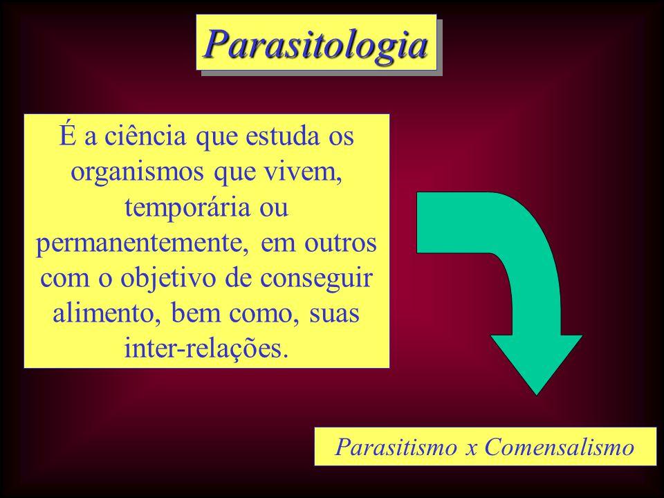 Parasitismo x Comensalismo