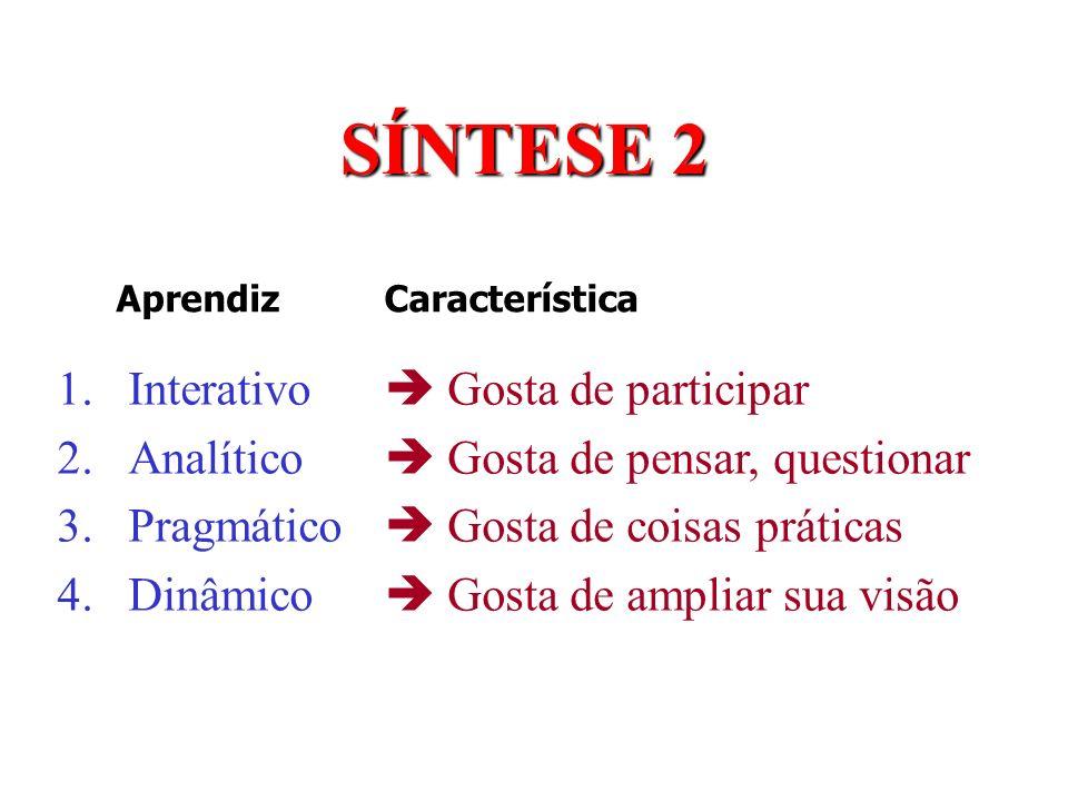 SÍNTESE 2 Interativo Analítico Pragmático Dinâmico