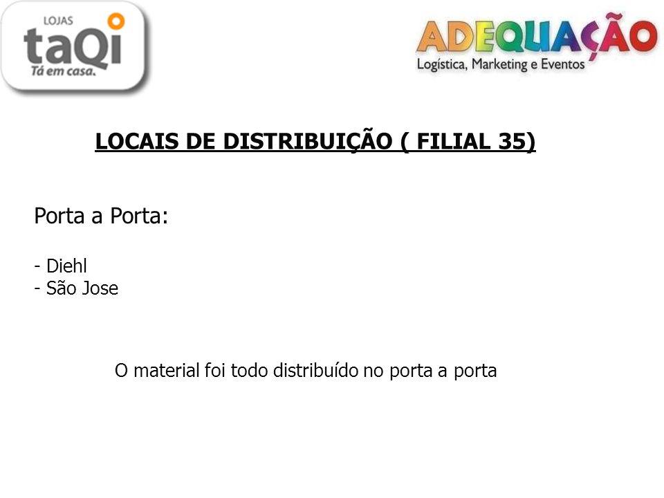 Porta a Porta: LOCAIS DE DISTRIBUIÇÃO ( FILIAL 35) Diehl São Jose