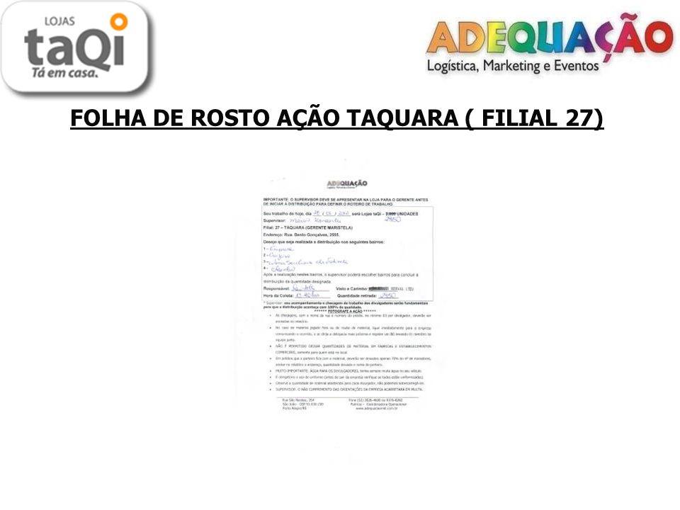 FOLHA DE ROSTO AÇÃO TAQUARA ( FILIAL 27)