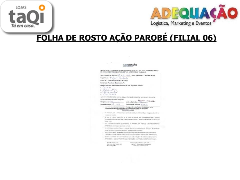 FOLHA DE ROSTO AÇÃO PAROBÉ (FILIAL 06)